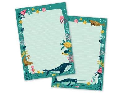 A5 Sea Animals Notepad by Heleen van den Thillart