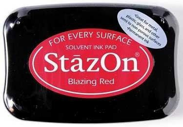 StazOn Solvent Ink Pad | Blazing Red