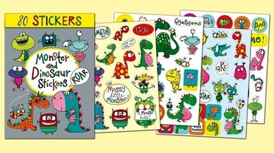 Rachel Ellen Designs Sticker Book | Monsters and Dinosaurs
