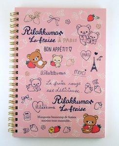 San-X Rilakkuma Ring Binder Notebook   Rilakkuma La Fraise