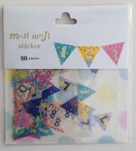 Sticker Flakes Sack | Moji Moji Numbers Banner