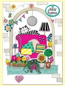 Rachel Ellen Designs Postcards - Wonderland - New Home - Window