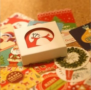 Sticker Flakes Box | Christmas