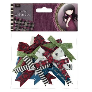 Gorjuss Large Ribbon Bows (12pcs) - Santoro Tweed