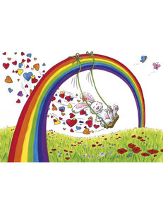 Sophie Turrel Postcard | Rainbow Swing
