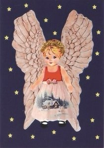 Postcard Caatje | Christmas Angel