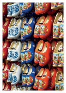 Postcard Kiek | Coloured Wooden Shoes