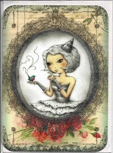 Santoro Eclectic Collection Double Postcard   Tell me Something
