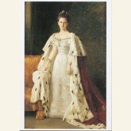 Postcard   Inhuldigingsportret Koningin Wilhelmina
