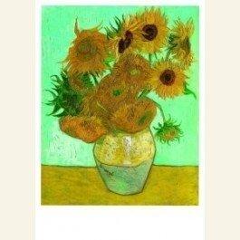 Postcard | Vincent van Gogh | Twelve sunflowers in a vase