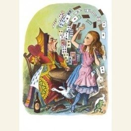 Postcard | A. Versary/Alice in wonderland