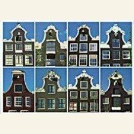 Postcard   Dutch Gables: 8 Bell-gables / Klokgevels