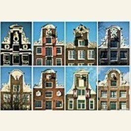 Postcard | Eight neck-gables (halsgevels), Amsterdam