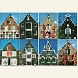 Postcard   Eight spout-gables (tuitgevels) Amsterdam