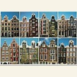 Postcard | 8 Couple-Gables (Echtparen), Amsterdam