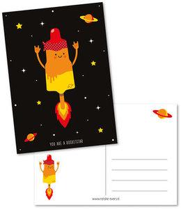 Postcard Renske Evers   You are my rocketstar