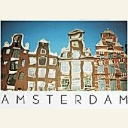 Postcard | Reflections on the Rokin, Amsterdam