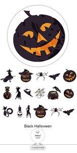 Washi Masking Tape | Black Halloween