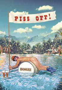 Piss Off! Individual Postcard by Max Hernn
