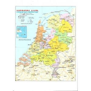 Wandkaart Nederland Postcard