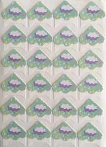 Photo Corner Stickers | Cloud with Rain