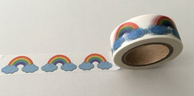 Washi Masking Tape | Rainbow with Clouds