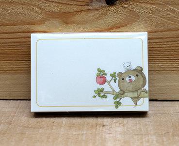Honey Bear Memo Notepaper Set