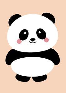 Studio Inktvis Postcard | Panda Peach