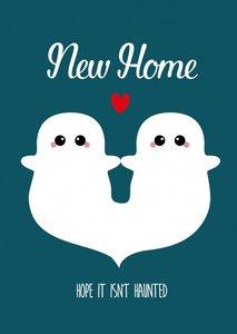 Studio Inktvis Postcard | New Home hope it isn't haunted