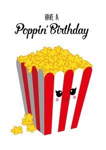Studio Inktvis Postcard | have a poppin birthday