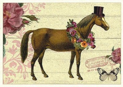 Postcard Edition Tausendschoen | Horse with Hat