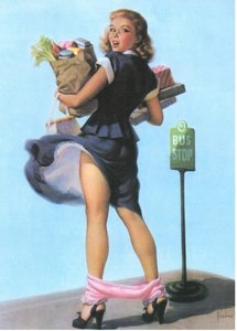 Postcard Pin Up | Bus Stop