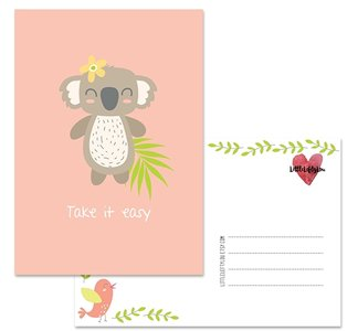 Postcard LittleLeftyLou | Cute Animals - Koala