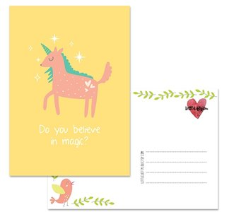 Postcard LittleLeftyLou | Cute Animals - Unicorn