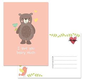 Postcard LittleLeftyLou | Cute Animals - Bear