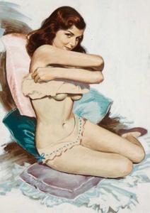 Postcard Pin Up | Undressing