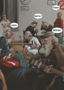 Inkognito Postcard Haderer | Stones Beatles