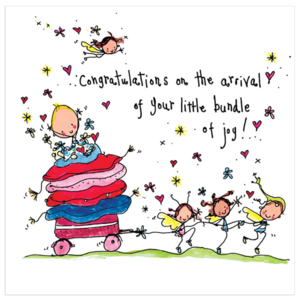 Juicy Lucy Designs Greeting Card - little bundle of joy!