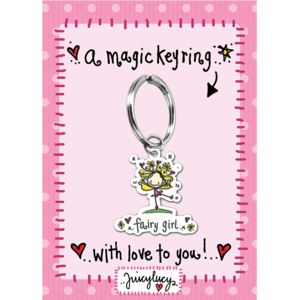 Juicy Lucy Designs Keyring | Fairy Girl