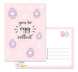 Postcard LittleLeftyLou | Easter - You're Egg-cellent