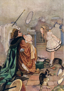 Postcard Alice in Wonderland | The Cook Throwing Everything