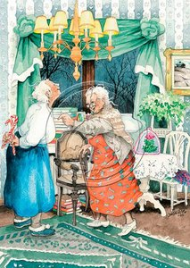 Inge Look Nr. 07 Postcard | Old Ladies Aunties