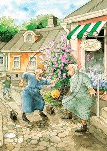 Inge Look Nr. 09 Postcard   Old Ladies Aunties