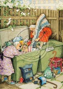 Inge Look Nr 12 Postcard | Old Ladies Aunties