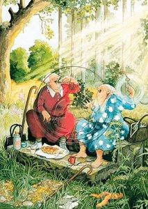 Inge Look Nr 13 Postcard | Old Ladies Aunties