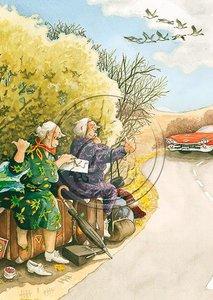 Inge Look Nr 15 Postcard | Old Ladies Aunties