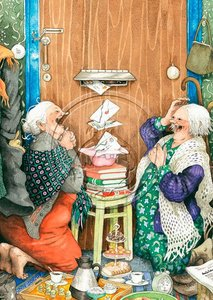 Inge Look Nr. 23 Postcard | Old Ladies Aunties