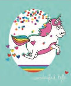 L'Atelier de Papier Aquarupella Postcard   Unicorn