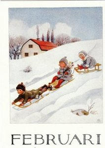 Elsa Beskow Postcard | February