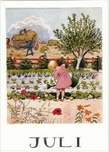 Elsa Beskow Postcard   July